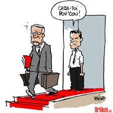 dessin adieu Ayrault bonjour Valls !