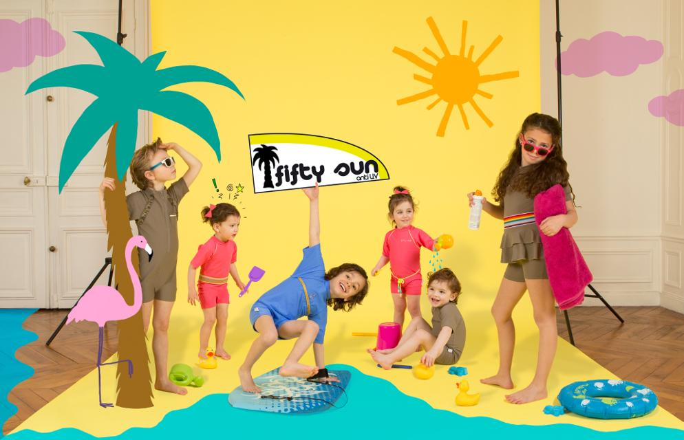 photo Fifty Sun, la nouvelle marque de maillots de bain anti-UV créé par Elsa Fayer